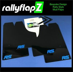Mud Flaps Rally Mudflaps & Fixings Ford Focus RS Mk2 Black 4mm PVC *Satin RS-NB