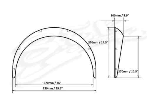 Over Wide Body Kit Universal Fender FLares Wheel Arches 3.9 inch 100 mm abs