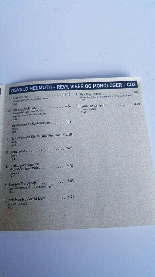 Oswald Helmuth: 3 CD : Revy,viser og monolger, andet