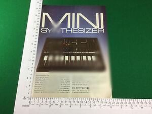 100% Vrai Vintage Pub Electro Harmonix Mini Synthétiseur De 1980 Synth Synthétiseur-afficher Le Titre D'origine Prix De Vente Directe D'Usine