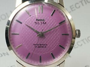 Vintage-Hmt-Slim-Mens-Analog-Dial-Mechanical-Hand-Winding-Wrist-Watch-OG194