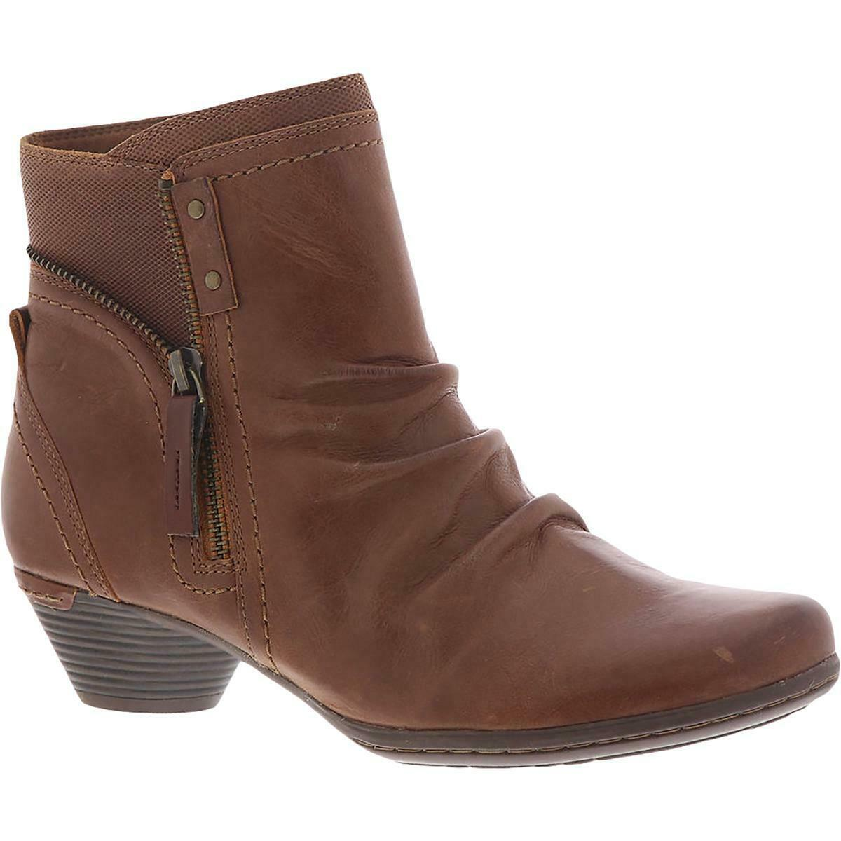 Cobb Hill Womens Laurel Leather Round Toe Ankle Booties Shoes BHFO 4574