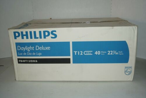 Philips FB40T12//DX//6 Daylight Deluxe 40-Watt U-Bend Fluorescent Lamp Light Bulb