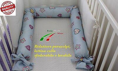 Infanzia E Premaman Riduttore Lettino Culla Paracolpi Sfoderabile Lavabile 220 Cm Made In Italy