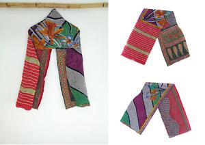 Cotton-Kantha-Scarf-Head-Wrap-Stole-Dupatta-Hand-Quilted-Women-Shawl-Stitched