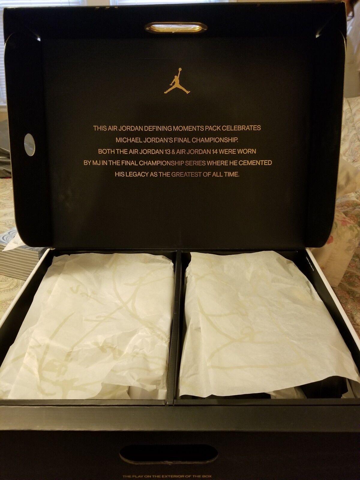 Nike Air Jordan 13  Jordan 14 DMP Finals Defining Moments Pack size 11.5