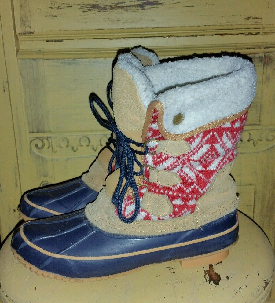 KHOMBU SHERPA LINED DUCK BOOTS ARCTIC NORDIC LADIES 7 M PREOWNED