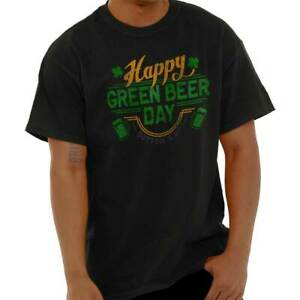 619972d3fa80 Details about Happy Green Beer St Patricks Day Funny Shirt Cool Gift Patty Classic  T Shirt Tee
