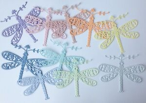 Tattered Lace Fancy Dragonfly Die-Cuts 10 Pieces Blue//green
