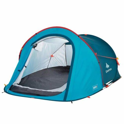Quechua Wurfzelt Festivalzelt 2 Seconds 2 für 2 Personen blau Campingzelt