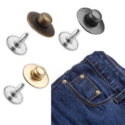 50 Juegos Remaches de doble cara los sujetadores Tachuelas Botón Coser Cuero Craft Jeans 6mm