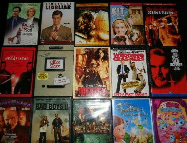 Used Dvds For Sale >> Lot Of 100 Used Assorted Dvd Movies 100 Bulk Dvds Used Dvds Lot Wholesale