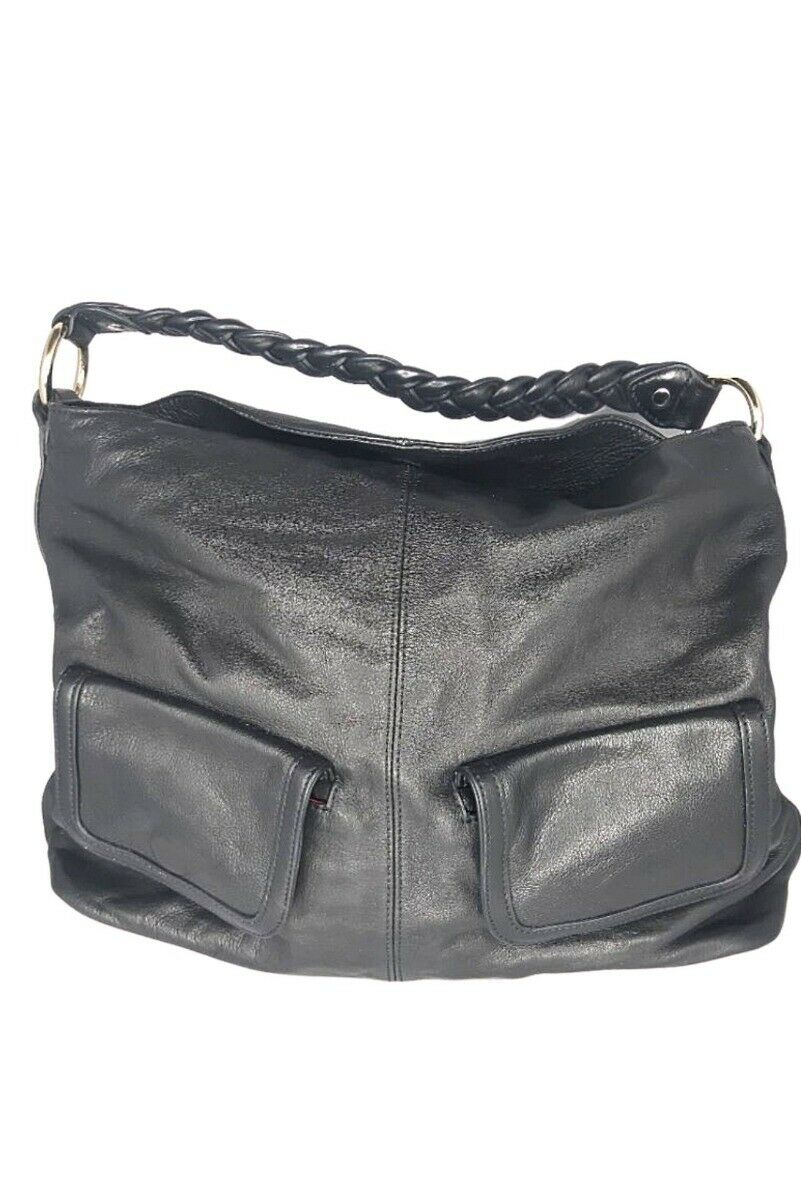 Shanghai Tang Black faux leather bag Very good condition - One Size