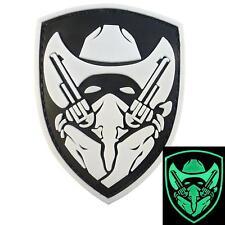 PVC 3D rubber GITD Gunfighter MOH medal of honor Apache Cowboy Glow hook patch
