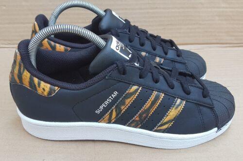 Druck Adidas getragener Einmal Größe in Trainers mit Tiger Schwarzer Box Superstar 5 ISwSUO4
