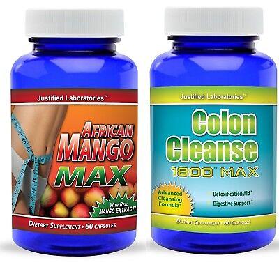 Super African Mango 1200 Super Colon Cleanse Weight Loss Detox