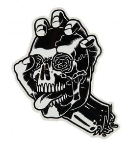 SANTA-CRUZ-034-Screaming-Skull-034-Skateboard-Snowboard-Sticker-13cm-Old-Skool-BLACK