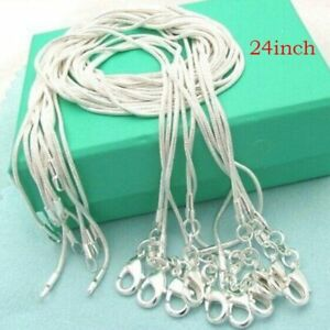 10PCS-Wholesale-Hot-Jewelry-Solid-Silver-Snake-Chain-Necklace-For-Pendant-Gift