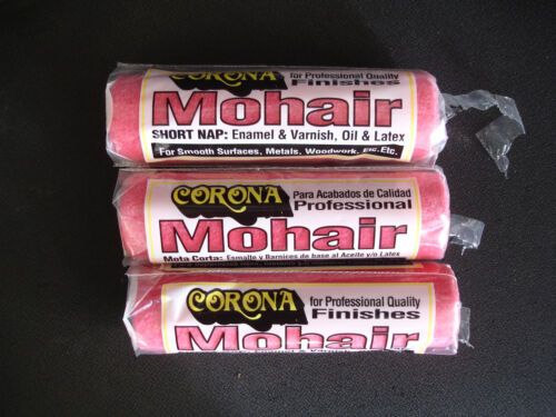 """New Corona Roller Brush  7/"""" Nap 1//8/"""" Mohair Red R-100-7 ***LOT OF 3***"""