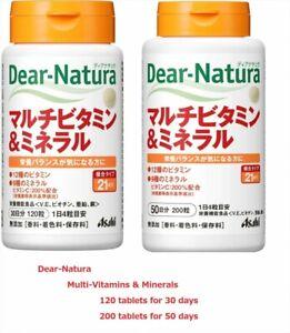 Dear-Natura-Multi-Vitamins-amp-Minerals-Supplement-120-200-tablets-JAPAN-F-S