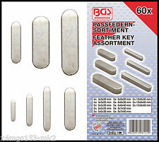 BGS - Feather Key Assortment For Fitting Hubs & Shafts - 60 Pcs - 8141