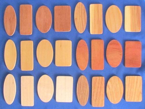 En bois blanc pour graveurs-Échantillon Lot De 48-4 tailles et 6 espèces de Bois