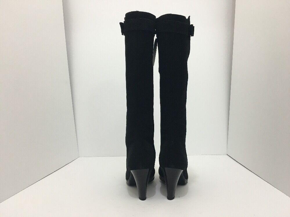 La Canadienne mala para mujer mujer mujer botas impermeables de tacón hasta la rodilla de Gamuza Negra Talla 9.5 74de81