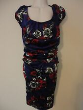SUZI CHIN For MAGGY BOUTIQUE Women's size 12 Purple Floral Print Dress