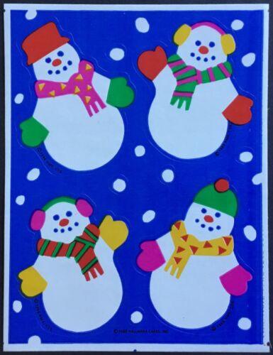 Snowmen Hallmark Christmas Vintage Stickers Dated 1986