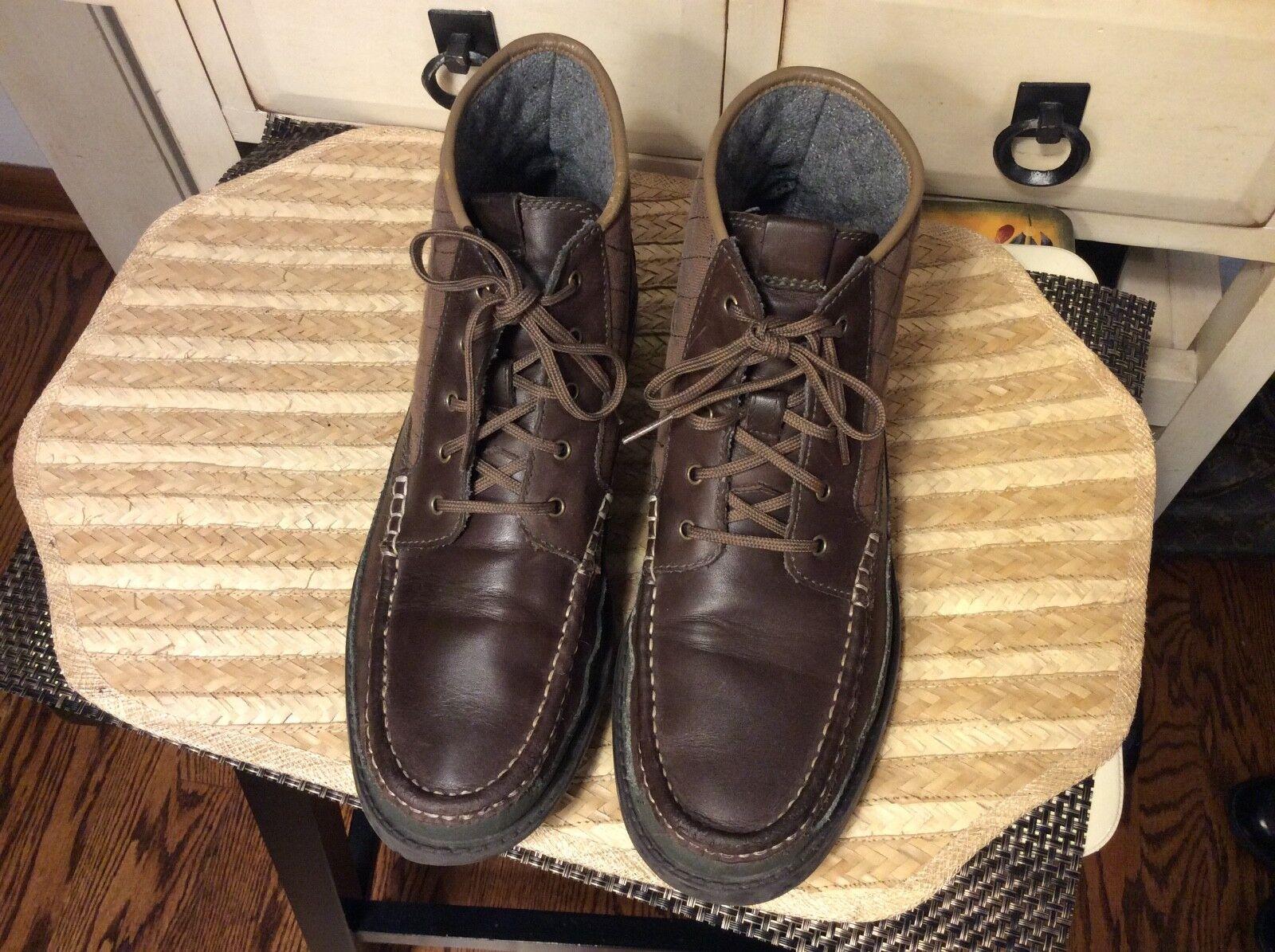 Cole Haan C20210 para hombre de cuero marrón oscuro 9.5 M botas al Tobillo Chukka