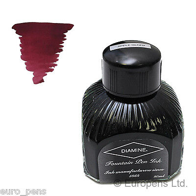 Diamine Bottled Ink (80ml) For Fountain Pens - Pinks / Reds
