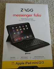 best sneakers ff624 8ab7a ZAGG Messenger Folio Case With Bluetooth Keyboard for Apple iPad Min1 2 3