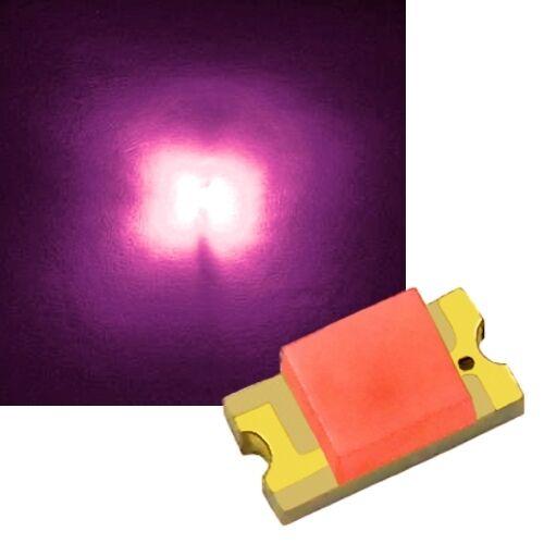 50 pinke SMD LEDs 1206 / pink rosa rose mini SMDs Led