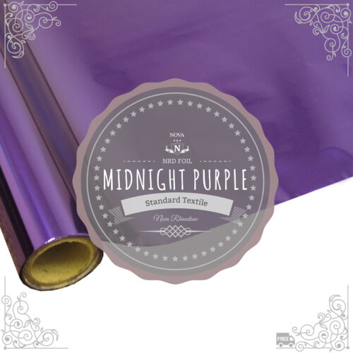 """NRDTextile Thermo Heat Transfer Foil /""""MIDNIGHT PURPLE/"""" 12/""""X 25/' ft.Free Shipping"""