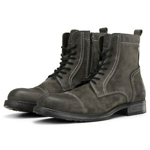 bester Wert riesige Auswahl an 100% authentisch Details about Jack & Jones Ankle Boots JFWRussel Mens Leather Suede Lace Up  Side Zip Shoes