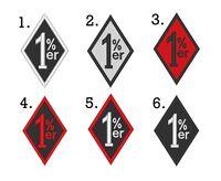 1%er Mc Outlaw One Percenter Biker Diamond Sew On Patch 2.25 X 3.5