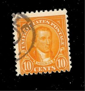 US-Stamp-SC-591-10-c-Monroe-USED-Light-Cancel-Crisp-Color