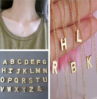 FA CA Women Gift Gold plated Letter name Initial chain Pendant Fashion Necklaces