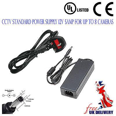 Power Adapter 12V 5 Amp CCTV Power Supply PSU High Quality CCTV COLOUR CAMERA