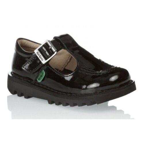 Z17 Kicker Kick IF Infants Girls T Patent Black 1-12531 School Shoes All Sizes
