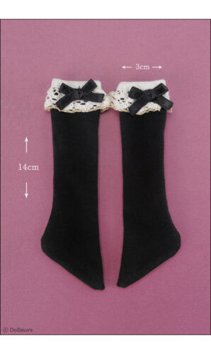 Dollmore MSD Lacy Girl Knee Stocking Black