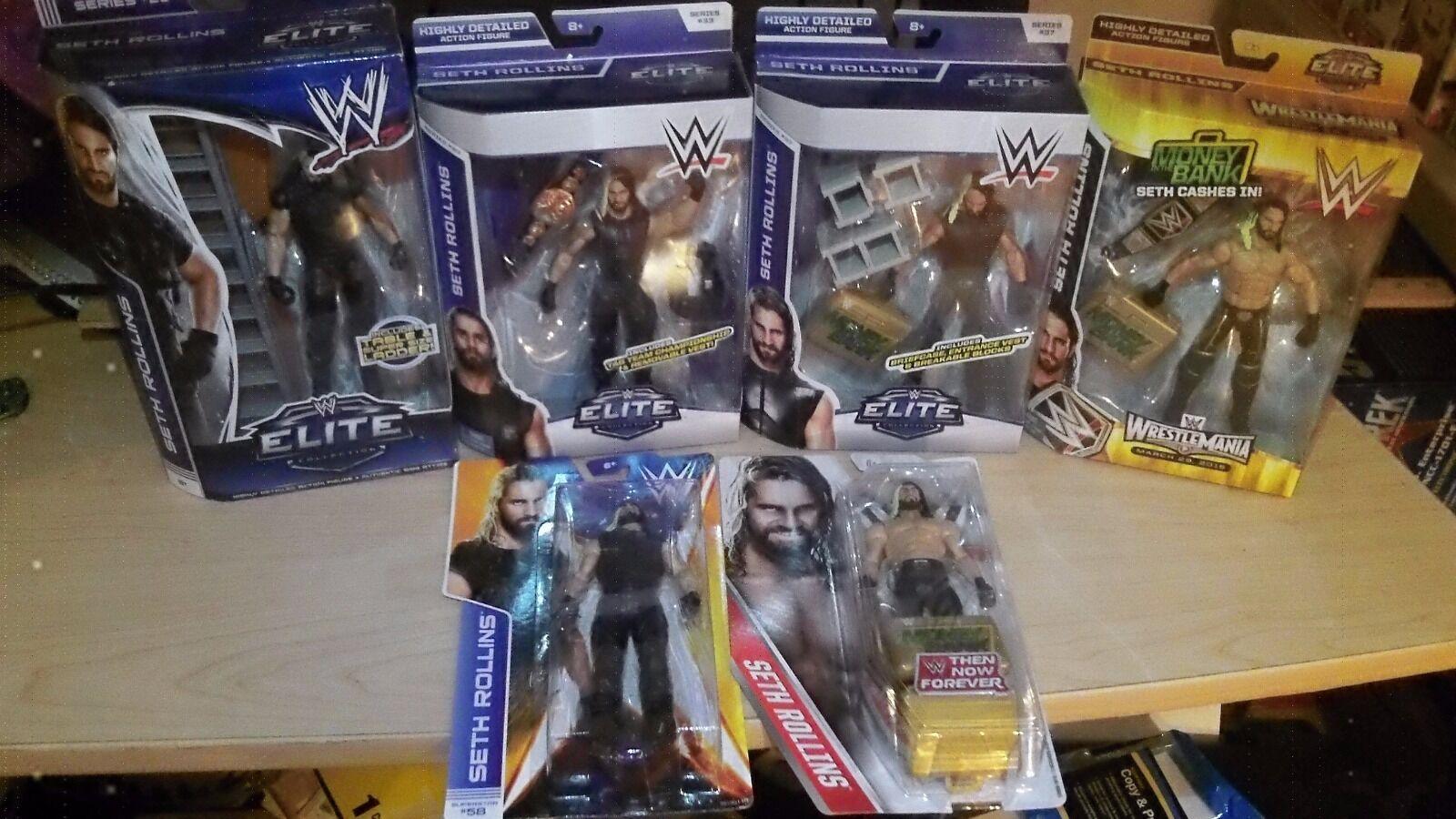 WWE Elite básico serie Seth Rollins exclusvie Lote Nuevo