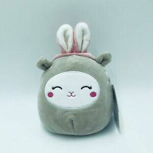 "Squishmallow Sophie Lamb Bunny Ears Plush Gray 2021 Easter 4.5"" Kellytoy"