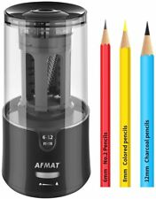 Afmat Electric Pencil Sharpenerauto Stop Super Sharp Amp Fast New In Box Gray