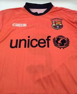 Fc Barcelona Barca Fcb Away Jersey Shirt Camiseta Unicef Nike L Neon Laguna 2 Ebay