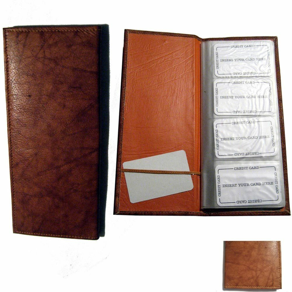 Genuine Leather 160 Cards Business Credit Card Holder Book Case ...