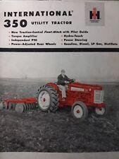 International 350 Utility Ag Ih Farm Tractor Color Sales Brochure Catalog Manual