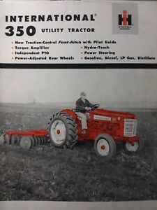 Details about International 350 Utility Ag iH Farm Tractor COLOR Sales  Brochure Catalog Manual