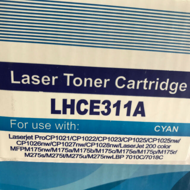 1PK Cyan Toner CE311A  126A For HP CP1025 CP1025NW M175NW LaserJet M175 CP1025NW