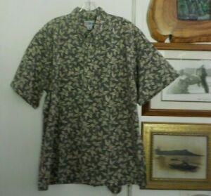 Reyn-Spooner-Hawaiian-Aloha-Shirt-Island-Floral-Tiki-Beach-Hawaii-Surf-Mens-XL